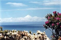 Frutillar at Lake Llanquihue with view to Vulcán Osorno Chile by Karin Zimmermann