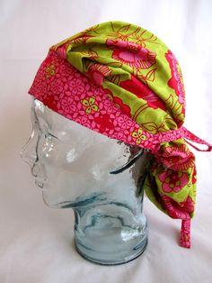 Bouffant scrub hat, scrub hat, chemo cap, scrub cap ,head covering, scrubs