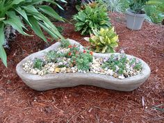 Hypertufa Garden Projects | You can't really appreciate it, but the color has a hint of tan in it.