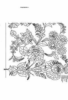 Gallery.ru / Фото #26 - Гладь. Схемы. - Marianna1504 Hungarian Embroidery, Folk Embroidery, Hand Embroidery Designs, Beaded Embroidery, Embroidery Patterns, Vintage Jewelry Crafts, Color By Numbers, Lace Making, Flower Art