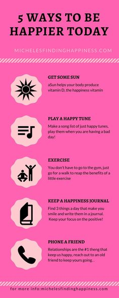 Psychology infographic and charts Happiness is sometimes a fleeting thing. Try these 5 happiness tips to boost yo… Infographic Description Happiness is sometimes a fleeting thing. Try these 5 happiness tips to boost your mood today. Happy Today, Happy Life, Ways To Be Happier, Finding Happiness, Finding Joy, Positive Mindset, Positive Living, Coping Skills, Happy Thoughts
