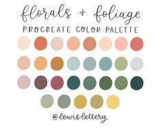 Colour Pallette, Colour Schemes, Color Combos, Spring Color Palette, Modern Color Palette, Nature Color Palette, Spring Colors, Palette Art, Pastel Colour Palette