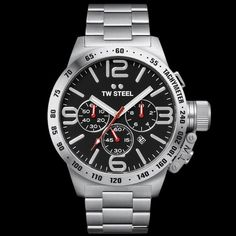 TW STEEL CANTEEN 50MM BLACK DIAL CHRONO WATCH