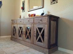I want to make this DIY Furniture Plan from AnaWhitecom A buffet
