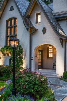New Farmhouse Style Exterior Curb Appeal French Country 32 Ideas Cottage Tudor, Cottage Homes, Modern Cottage, Style At Home, Maison Tudor, Casas Tudor, Stommel Haus, Storybook Homes, Storybook Cottage