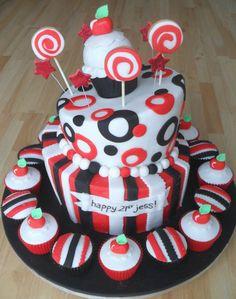 Topsy Turvy Cake.