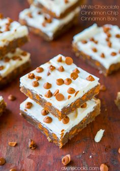 White Chocolate-Topped Cinnamon Chip Cinnamon Bars