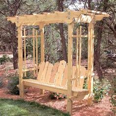 garden arbor. Move my swing to corner of back yard or to the front?