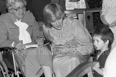 18th May 1982 Princess Diana Of Wales Visits Albany Community Centre At Deptford.
