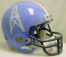 The original Houston Oilers helmet used from 1960-65 was blue.  I love this color and miss the Oiler's uniforms.