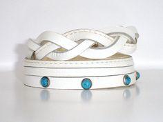 Layered Wrap Bracelet Cuff  Layered white by ChristyKeysCreations, $10.00