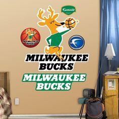 Fathead Milwaukee Bucks Classic Logo Wall Decals, Multicolor