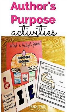 Teach author's purpose with this interactive PIE craft, flip flap book, and assessment worksheet (grade 3 art authors purpose) Library Activities, Reading Activities, Teaching Reading, Teaching Ideas, Student Teaching, Educational Activities, Guided Reading, Comprehension Strategies, Reading Strategies
