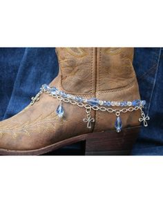33edceb9437 Boot Candy Lt. Sapphire Crystals and Crosses - Not a tutorial but looks  pretty simple