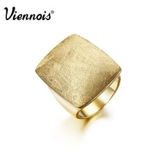 Viennois Hot Fashion Africa Style Gold Plated Square Band Party Ring sz 7 #Viennois #Cocktail