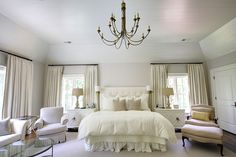 An all white bedroom design can be cozy and serene, adding textures and patterns and layering varying shades of white can create a dreamy bedroom aesthetic. All White Bedroom, White Bedroom Design, Dream Bedroom, Home Bedroom, Bedroom Furniture, Bedroom Decor, Bedroom Designs, White Bedrooms, Bedroom Ideas