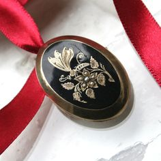Victorian Mourning Locket Rolled Gold 12k Seed by DresdenDollz, $160.00