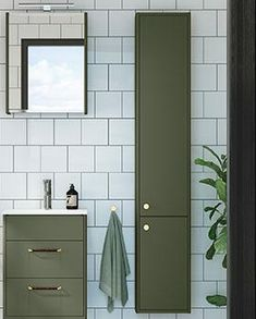 Bathroom Inspo, Bathroom Inspiration, Interior Inspiration, Home Interior, Interior Design, Bad Inspiration, London House, Small Bathroom, Tall Cabinet Storage