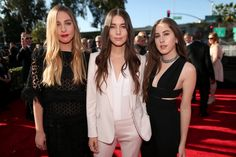 Haim arrive at the 57th Annual GRAMMY Awards on Feb. 8 in Los Angeles