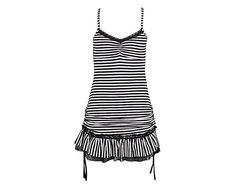 Organic Cotton Stripe Mini Dress White Black by eleven44 on Etsy, $82.00