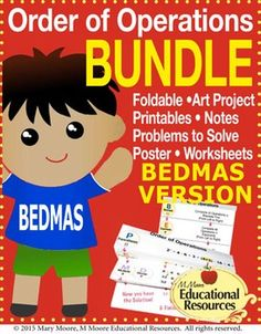 Enjoy a bundle of Order of Operations tasks, challenges, worksheets, handouts for interactive notebooks, guided notes, foldables, and more! - BEDMAS Version.  Perfect for interactive notebooks, stations, and more.  This is an excellent resource for teaching order of operations that has numerous guides to assist students!This bundle includes all of my Order of Operation Products (BEDMAS Versions).