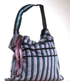 Torba na ramię z kieszonką w Pani Sowa Handmade na DaWanda.com