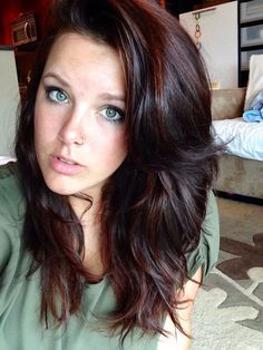 Chocolate brown, auburn highlights - Looking for Hair Extensions to refresh your...