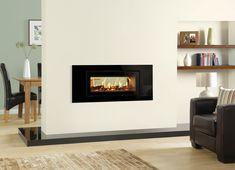 double sided wood burning fireplace - Google Search Double Sided Stove, Double Sided Fireplace, Log Burner, Firewood, New Homes, Lounge, Living Room, Studio, Wood Burning