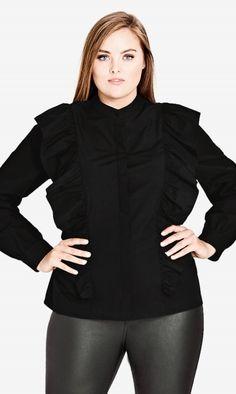 Oh My Ruffle Shirt #ccworldofcurves #citychic #cclovescurves #ootd #psootd