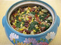 Corn and Bean Stew with Baby Spinach | Recipe Guide | Dr Fuhrman.com
