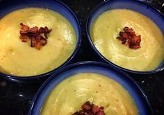 Salad Girl Nat Healthy & Delicious Home Cooking Not Just Salad: Potato Leek Soup with Bacon (Non Dairy)