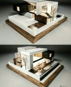 Architectural model of a modern house Maquette Architecture, Conceptual Architecture, Architecture Concept Drawings, Cultural Architecture, Futuristic Architecture, Amazing Architecture, Home Architecture Styles, Architecture Design, Architecture Model Making