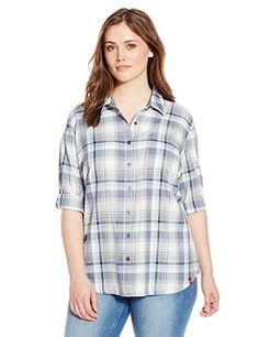 Dickies Women's Plus-Size Plaid Quarter Sleeve Roll Up Shirt  http://www.effyourbeautystandarts.com/dickies-womens-plus-size-plaid-quarter-sleeve-roll-up-shirt/