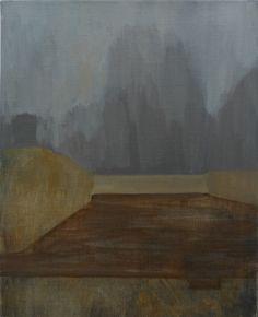 "Mykolé, ""Fog"", 2012, 41 x 33 cm Oil, canvas. Contemporary landscape paintings."