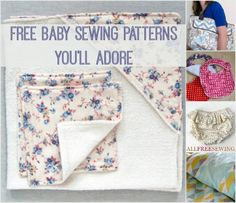 Too cute! Learn to sew or make a gift from these 50 Free Baby Sewing Patterns You'll Adore! It's our just-updated collection of sewing tutorials that we're incredibly excited about.
