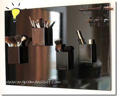 Magnetic Brush Holder..Makeup Vanity/Studio/Storage/Ideas