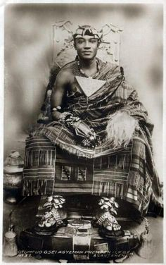 "dynamicafrica: "" "" Ghana: A young King Otumfuo Osei Agyeman Prempeh II, King of Asante, 1970 In 1931 he was installed as Kumasihene. In that same year he imme­diately began to work vigorously for the restoration of Asante Confederacy. African Culture, African American History, British History, African Beauty, African Art, African Fashion, Ghana, Kings & Queens, Black Royalty"