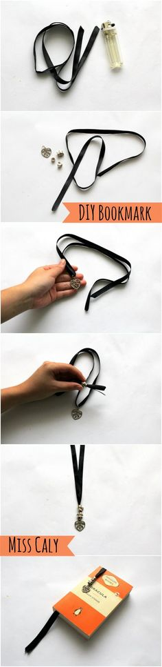 5 Minutes to Make a Classy Ribbon Bookmark - By Miss Caly #Crafts