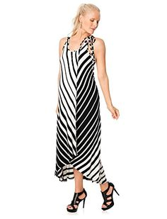 Ella Moss Sleeveless Highlow Hem Maternity DressBlackLarge *** You can get additional details at the image link.Note:It is affiliate link to Amazon.