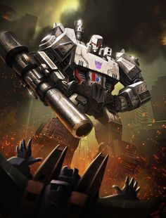Megatron ranks high because he commands the Decepticons. He doesn't rank higher because, in the first generation, he just changed into a gun that had to be carried by other Decepticons. Luckily, in later incarnations, he could change into tanks or alligators.