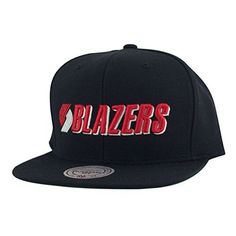 quality design 25bc1 bdab0 Portland Trailblazers Black Mitchell   Ness One Tone Team Logo Snapback Hat.  Officially licensed NBA