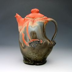 Sassy teapot from http://creativewithclay.etsy.com/ Ceramics and Pottery: Facts and Fancies (Part 1) | The Etsy Blog