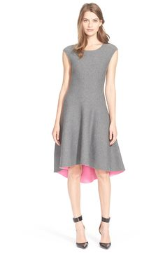 Free shipping and returns on Milly Reversible Fit & Flare Dress at Nordstrom.com. Pops of contrast color peeking out from the high/low hem hint at the clever double-faced design of an ultrafemme fit-and-flare dress that flips from heather grey to bright, playful pink.