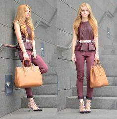 Prada Bag | H&M Top and Prada Saffiano Large Executive Tote Bag and Valentino Shoes