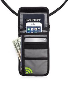 TravelGenixx Neck Wallet wRFID BlockingHidden Travel Pouch  Passport Holder Grey >>> Be sure to check out this awesome product.