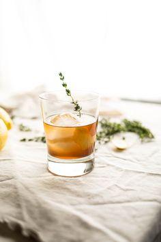 Bourbon Thyme Cocktail | saltedplains.com
