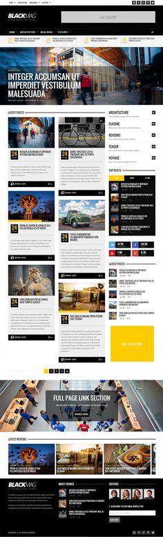 BLACKMAG - Bold & Clean Magazine Theme  #responsivewordpressthemes #html5wordpressthemes #magazinewordpressthemes