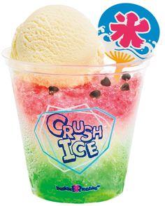 夏限定!!氷×アイスクリームのザクザク食感クラッシュアイス