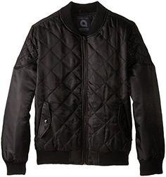 Akademiks Mens Jerome Quilted Jacket, Black, X-Large