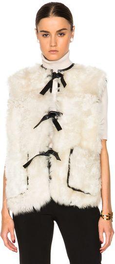 Shop for Marni Lamb Shearling Waistcoat in Nomad at FWRD. Winter Survival, Marni, Lamb, Fur Coat, Leather Jacket, October, Jackets, Shopping, Chic